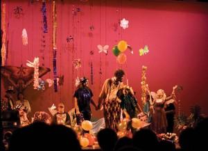 clown and fairies